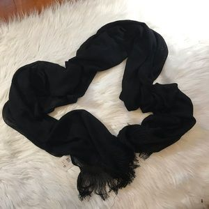 Calvin Klein black lightweight scarf new